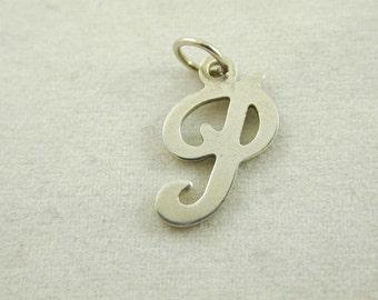 """The Letter """"P"""" 0.44 Grams Sterling Silver Vinatge"""