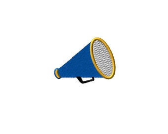 Blank Cheer Megaphone Machine Embroidery Design 2 sizes