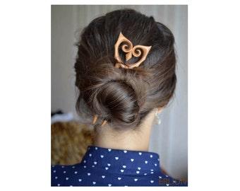 Wooden Hair fork Owl/ Wood Hair fork/ Wood Hairfork/ Owl Hairfork