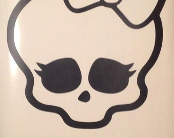 Monster High inspired interior vinyl Wall Decal.