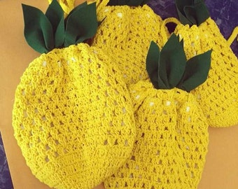 Pineapple Crochet bag / Beach Bag