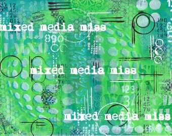 Art Journal Mixed Media digital download