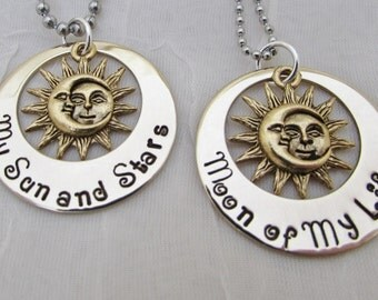 Game of Thrones - My Sun and Stars  Moon of My Life Couple's Necklace Set Daenerys and Khal Song of Ice and Fire