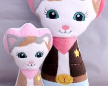 Sheriff Callie Wild West ITH Stuffed Doll Embroidery Design
