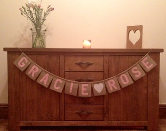 Personalised Custom made  Bunting Decoration 1.25 Pounds Per Letter
