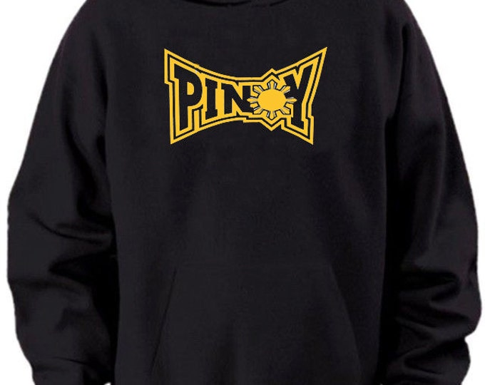 Pinoy Tapout Hooded Sweater Black Yellow