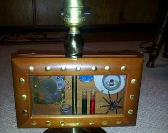 steampunk mad scientist lamp(free shipping)