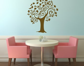 Curly Tree Wall Decal Sticker Branches Graphic Mural Home Decor