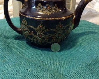 Vintage / Antique, Hand Painted, Jewel Teapot (Made in England)