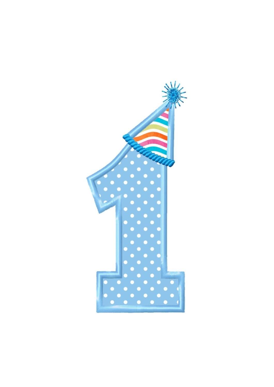 Birthday Number 1 Blue | www.pixshark.com - Images ...