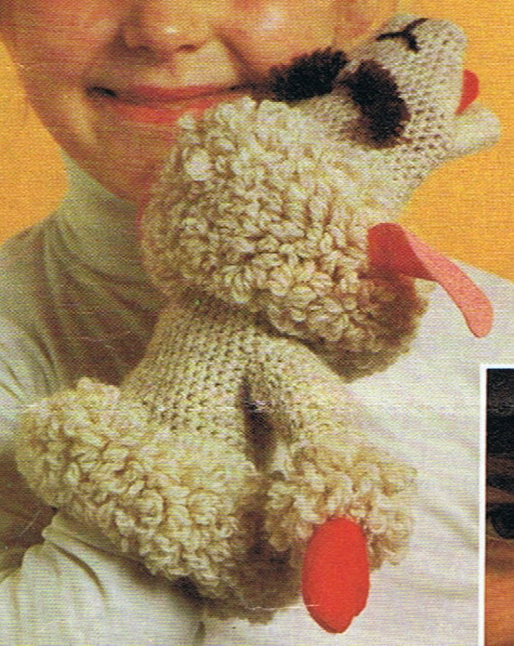 SALE**** Knitting/Crochet Pattern - Lamb Chop Puppet made famous by Shari Lew...