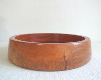 10.5 Inch Salad Bowl, Wooden Salad Bowl, Eucalyptus Bowl, Wooden Bowl, Housewarming Gift, Hostess Gift, Reclaimed Wood