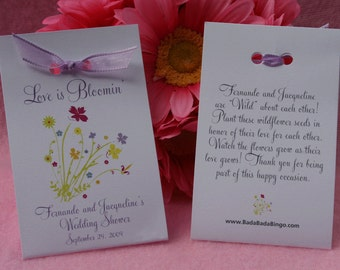 Personized ~ Love is Bloomin' Wildflowers Favors