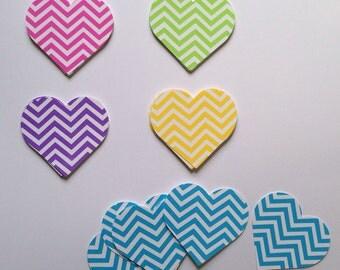 50 Chevron striped Hearts