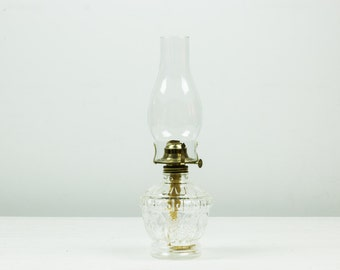 Vintage Glass Oil Lamp - Mint Condition - Never Used