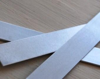 "Stamping Blanks Cuff Bracelet Blank - 16 gauge ALUMINUM 3/4"" x 6.5"" -  De-Bured"