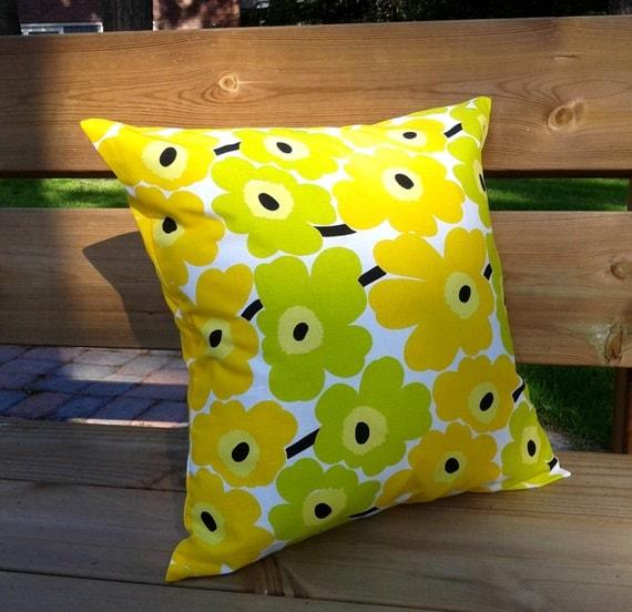 Marimekko Throw Pillow Covers : Pillow cover made from Marimekko fabric pillow sham throw