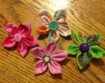Baby/Toddler Flower Clips! Small fabric flower clip, perfect for any baby or toddler!