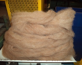 Alpaca Roving 4 OZ, Mingle Tan and White