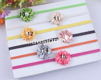U Pick Wholesales Satin Ribbon Pearl Flower Headband Baby Headbands. Newborns Headbands. Girl's Headband YTH07