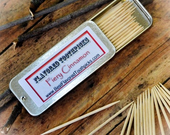 Cinnamon Flavored Toothpicks - 70+ Flavors! Snack, Gluten Free Snack, Welcome Bags, Client Gifts, Treat, Corporate Gifts, Christmas Party
