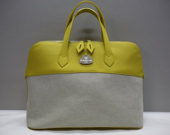 "SALDI!  Weekend Bag "" Yellow Bugs"""