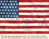 Antique postcard of American flag INSTANT download