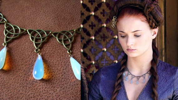 sansa stark poison necklace game of thrones purple wedding