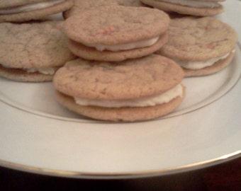 Homemade Carrot Cake Sandwich Cookies!