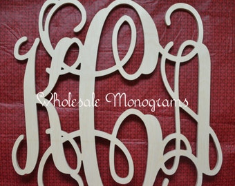 "26"" inch Wooden Monogram Letters- Unpainted- Wedding Decor- Home Decor"