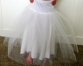 Tulle petticoat slip to wear under Princess dresses.
