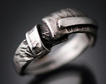 "Mens rings | Mens silver ring | Mens sterling band | Mens band sterling silver ring | Fashion jewelry bands | ""Forged"" Ring"