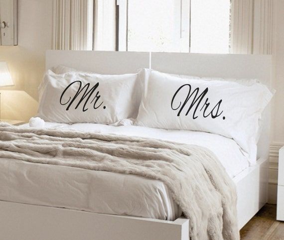His And Her Pillowcase Set Mr And Mrs