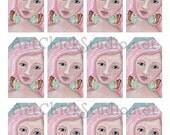 Believe Fairy Hang Tags Printable Digital Collage Sheet