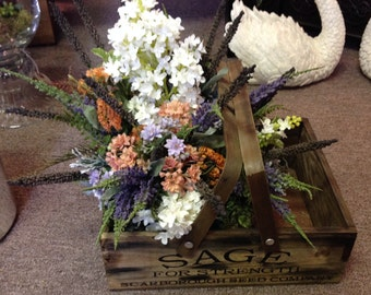 SALE...SALE...SALE...Floral arrangement in country container