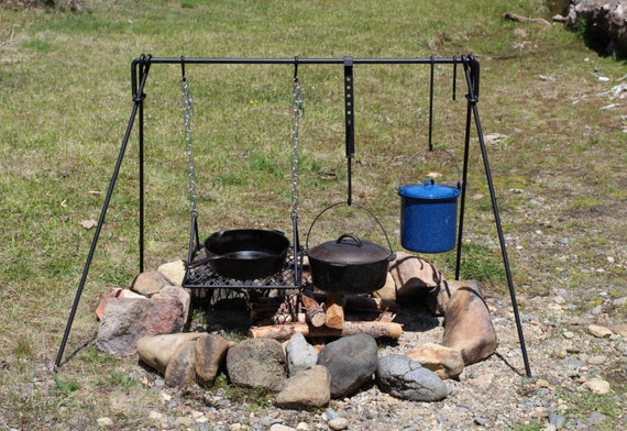 Items Similar To Large Folding Campfire Cooking Set Bbq