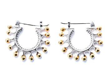 earrrings, sterling silver
