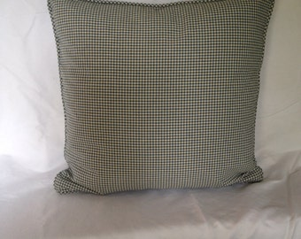 Blue and White Check Pillow Cover