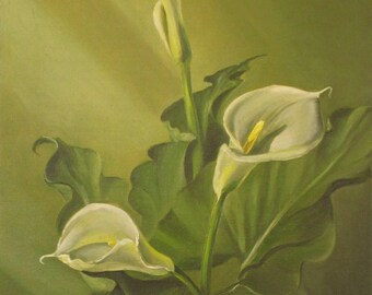 Original Oil painting Callas handmade