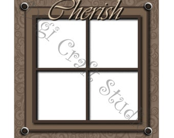 Cherish Digital Scrapbook Quick Page 12 x 12 jpg and png format.