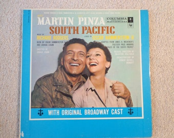 Vintage South Pacific Vinyl Record, Original Broadway Cast, Rodgers and Hammerstein,