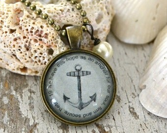 Hope as an Anchor Scripture Necklace