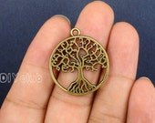 20pcs of Antique Bronze Tree of life Charms pendants 29x25mm