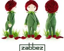 "Crochet pattern amigurumi doll ""Rose Roxy"" PDF"