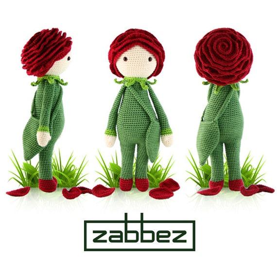 Amigurumi Rose Free Pattern : Hakelanleitung Amigurumi Puppe Rose Roxy PDF