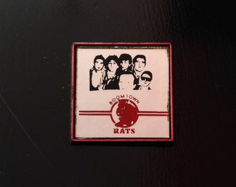 Vintage Rare Boomtown Rats 80s Mirror Button / Pin - Classic New Wave
