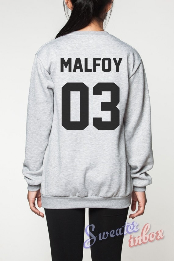 draco malfoy harry potter sweatshirt deathly by sweaterinbox. Black Bedroom Furniture Sets. Home Design Ideas
