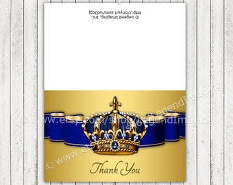 King Prince Thank You Cards