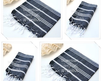 DISH TOWEL SET of 4 Peshkir Face Towel Hair Towel Tea Towel Kitchen Towel Hand Towel Head Towel Guest Towel Bathroom Towel Gift Towel