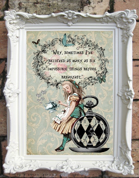 ALICE In Wonderland Decor Shabby Chic By OldStyleDesign